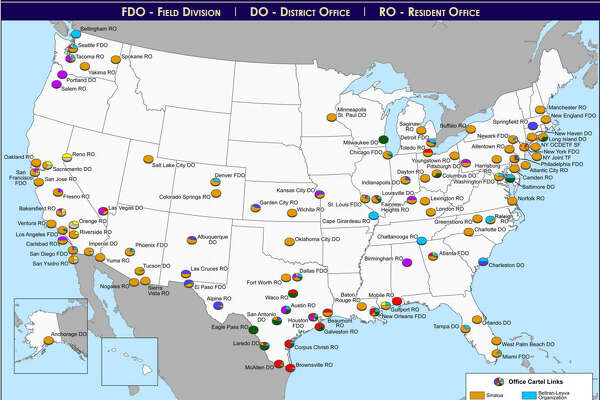 DEA maps show where Mexican drug cartels hold sway in Texas ...