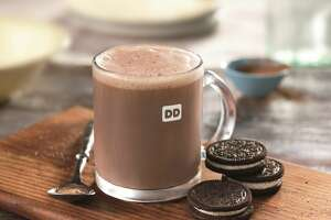 Dunkin' Donuts doubles up on the flavor with its Oreo Hot Chocolate.