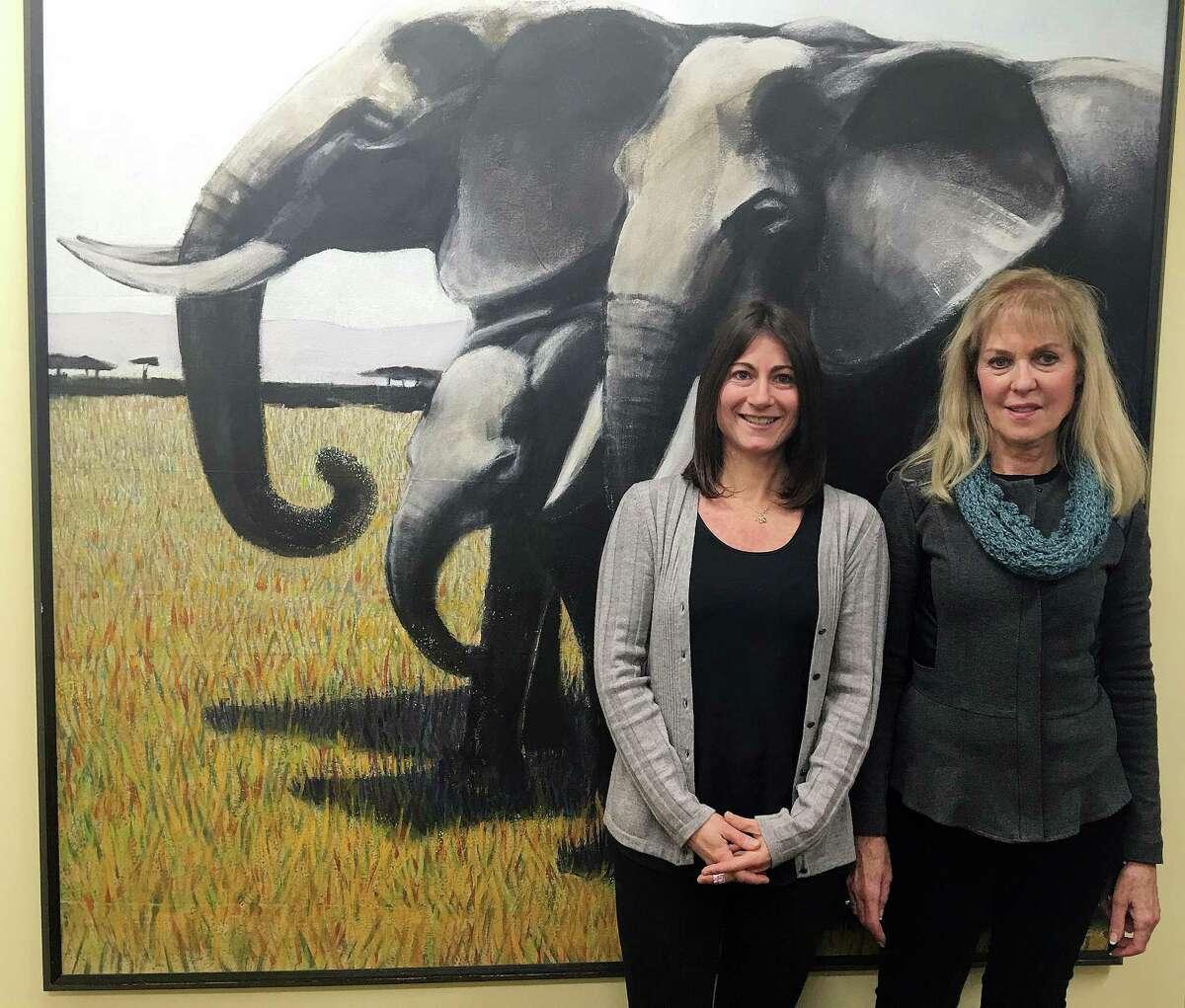 Nicole Rivard (left), correspondent, and Priscilla Feral, president, at Friends of Animals office in Darien, CT on Dec. 19, 2016.