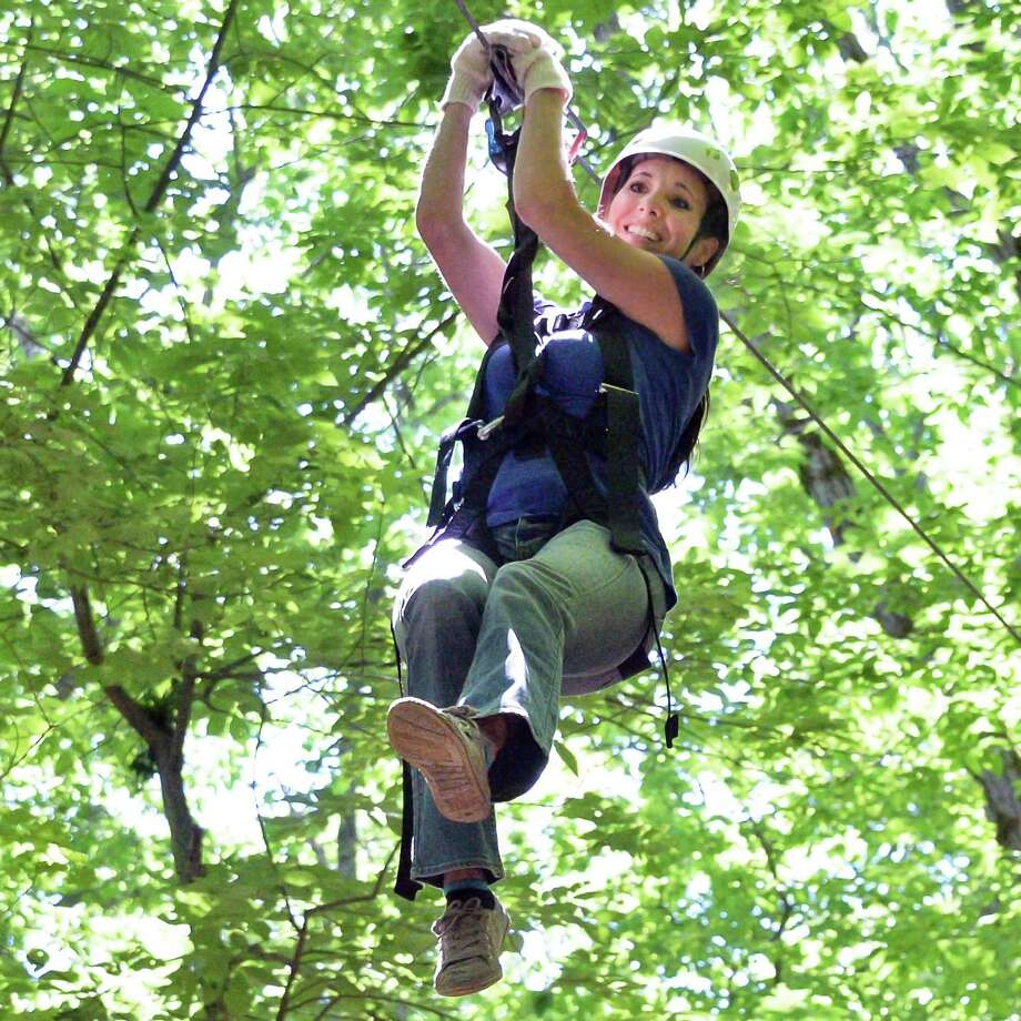 A challenge course and zip line Photo: John Carl D'Annibale /Albany Times Union / 40036903A