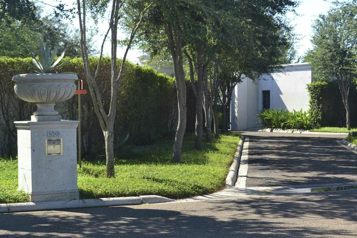 The entrance to Luis Carlos Castillo Cervantes?'s compound in Mission. The property, which includes a 25,000-square-foot house and an 8,000-square-foot entertainment facility, is appraised at $3 million. Castillo pleaded guilty on Jan. 3, 2017, to one count of money laundering conspiracy.