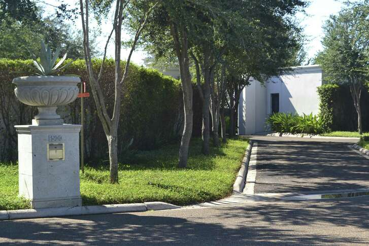 The entrance to Luis Carlos Castillo Cervantes's compound in Mission. The property, which includes a 25,000-square-foot house and an 8,000-square-foot entertainment facility, is appraised at $3 million. Castillo pleaded guilty on Jan. 3, 2017, to one count of money laundering conspiracy.
