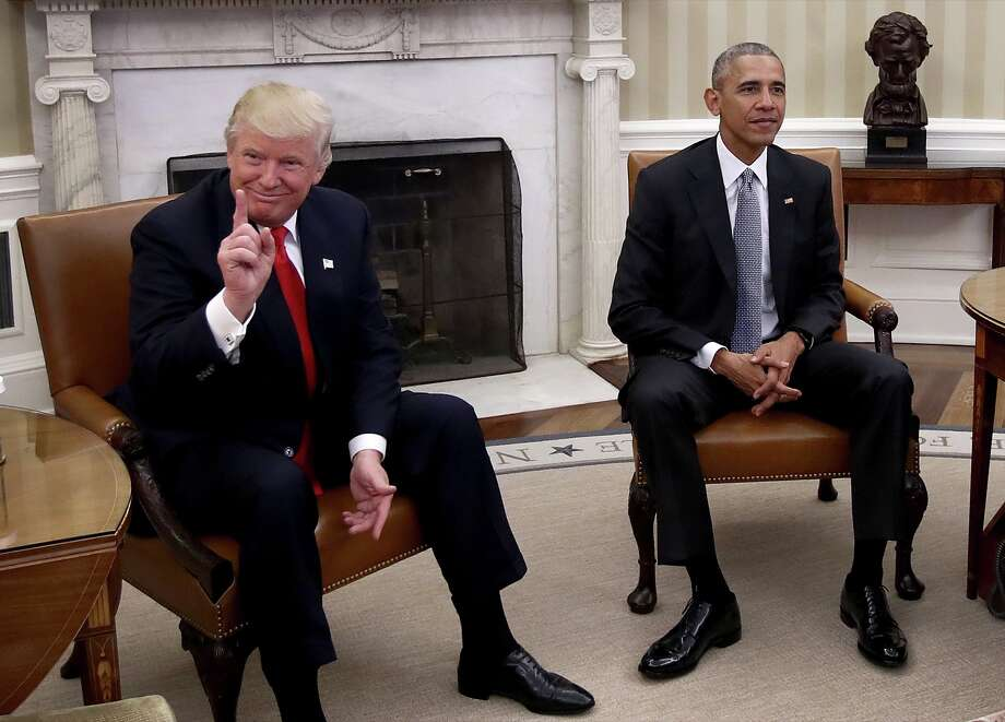 An aide with the Trump transition team confirms President Obama and President-elect Trump will be riding together on Inauguration Day.Click through this slideshow to read more about Inauguration Day events and protests planned around the Bay Area. Photo: Win McNamee/Getty Images