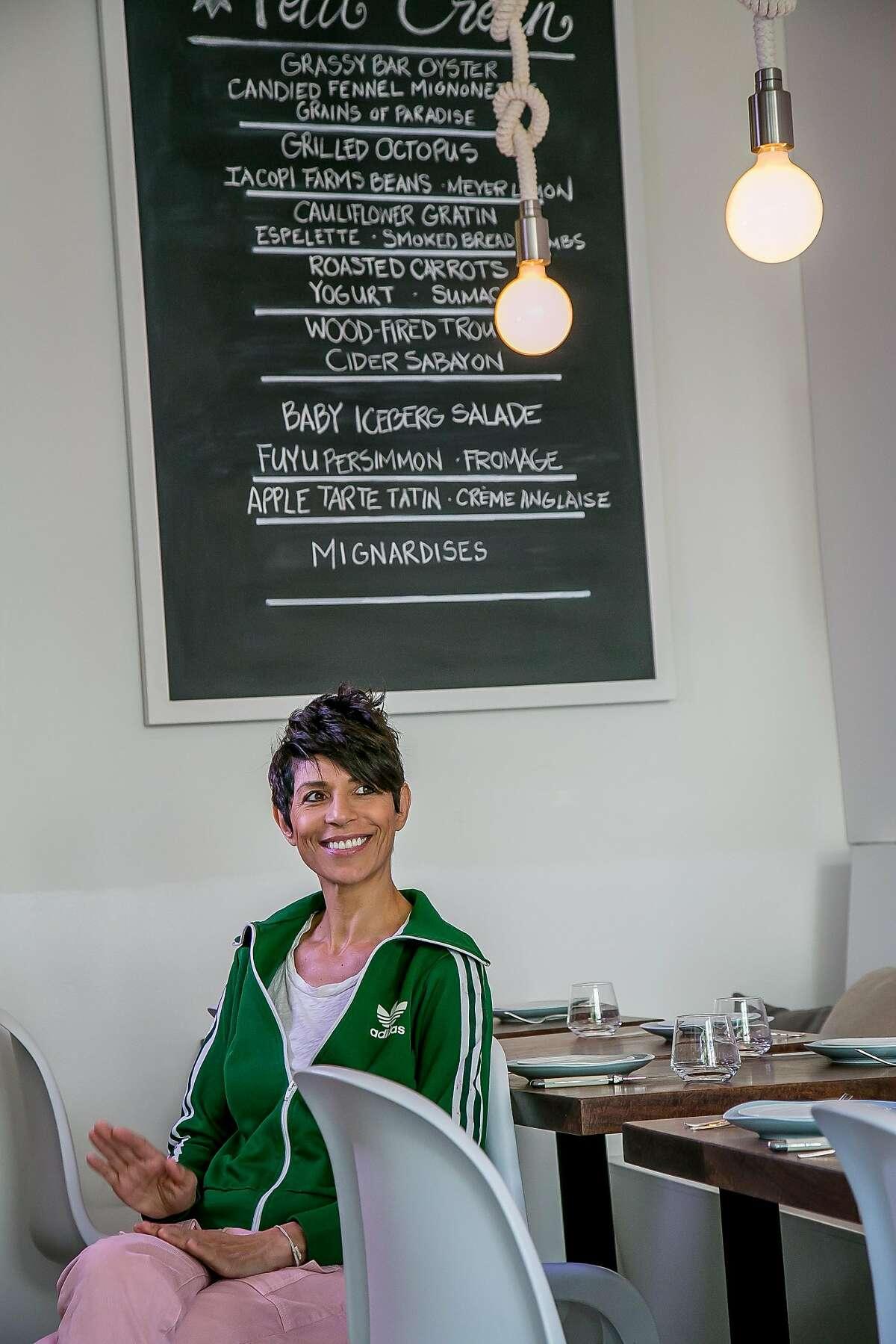 Chef Dominique Crenn at Petit Crenn in San Francisco, Calif. is seen on Saturday, October 3rd, 2015.