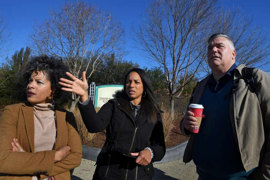 Janaye Ingram, with Ianta Summers and Ted Jackson stand at 3rd and Independence Ave. SW where the Women's march will begin. Janaye Ingram has been the local point person for getting the logistics issues smoothed out. Summers is a public relations consultant and Jackson is an accessibility consultant. The Women's March on Washington is expected to be the largest demonstration around the inauguration. After some permitting disputes, the group finally secured a permit through MPD to start its march on Independence and 3rd Street SW. From there, they will march westward toward the Ellipse.