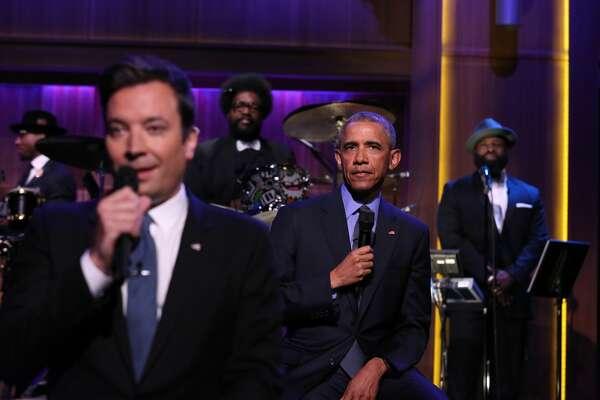 """Tonight Show"" Host Jimmy Fallon and President Barack Obama Slow Jam The News on June 9, 2016"