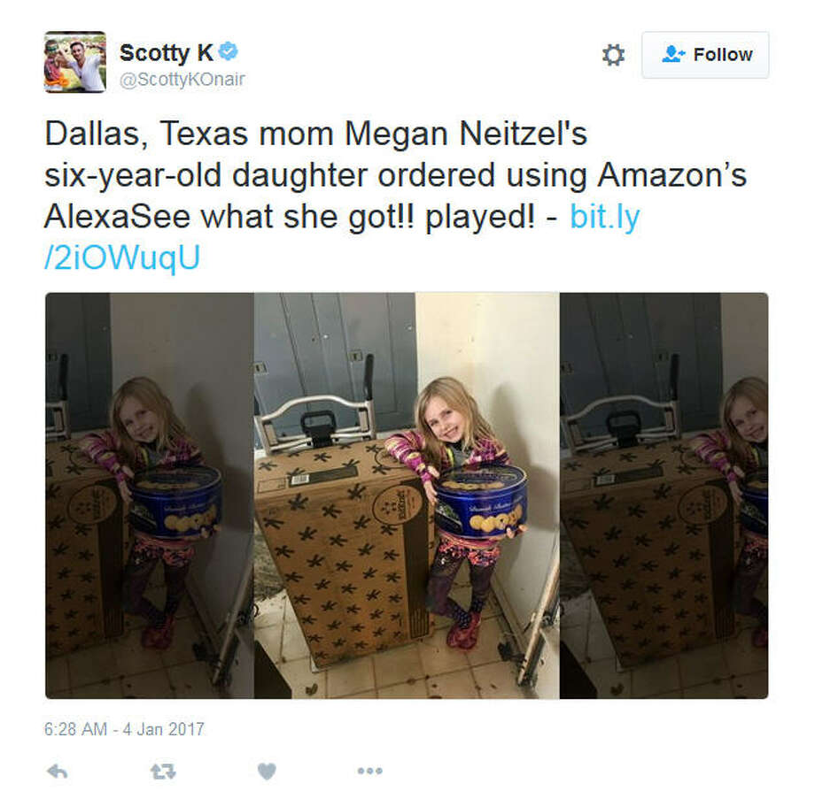 "Gallery: Top tech for 2017This Dallas 6-year-old shows the online purchases she accidentally made by talking to Amazon's ""Alexa,"" a voice-activated digital assistant. (Screen grab via Twitter/@ScottyKOnair)Keep clicking to see some of the hottest tech items on the market this holiday season."