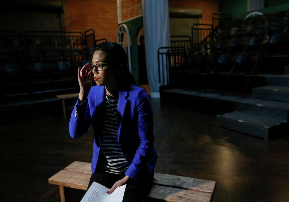 Misa Nguyen, director of programs for United against Human Trafficking, talks about human trafficking in Texas, while filming a promotional video Tuesday, Dec. 20, 2016, in Houston.