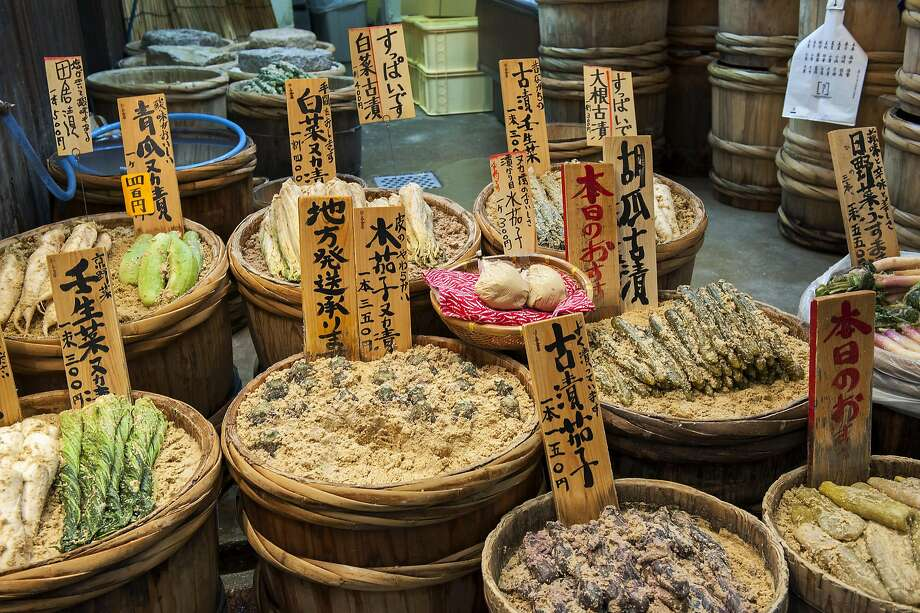 Pickled vegetables for sale at the Nishiki market. Photo: Getty Images, Getty Images/Lonely Planet Images