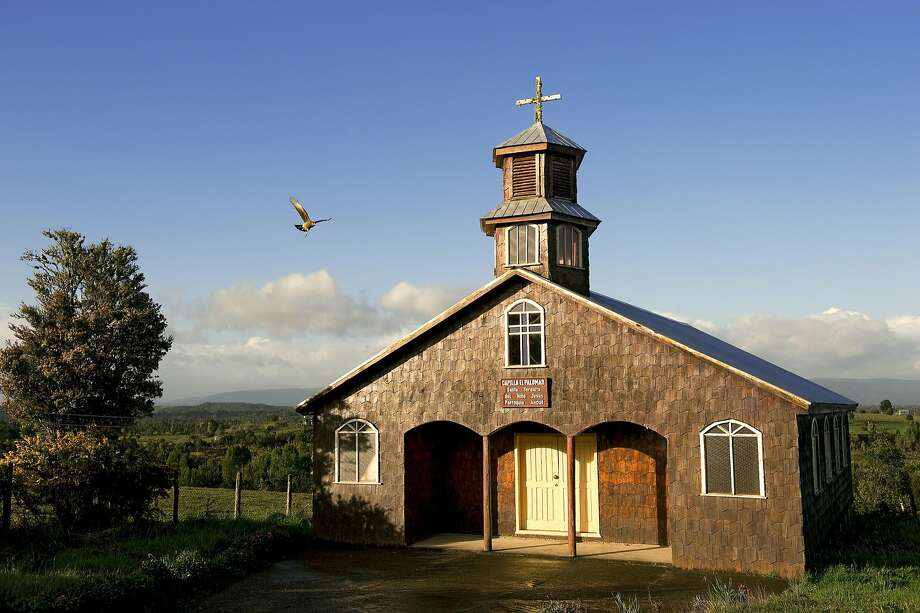A wooden church in the Los Lagos Region, Chiloe Island. Photo: Getty Images, Getty Images/Hemis.fr RM