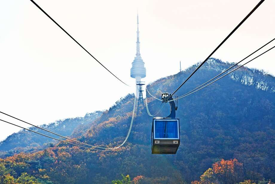Cable car to Seoul Tower. Photo: Getty Images, Getty Images/Lonely Planet Images