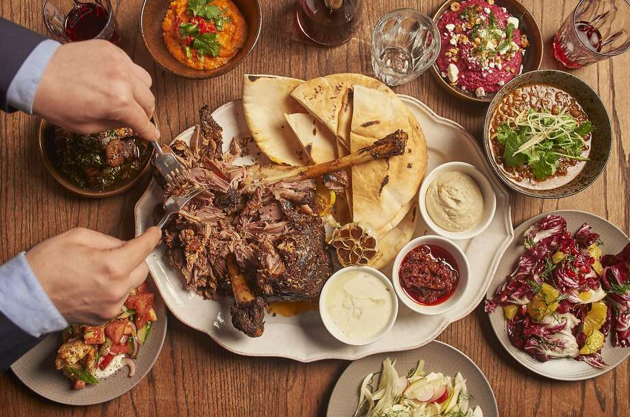 A multicultural take on leg of lamb at Refuge by Volta in Manchester's Principal hotel typifies the cutting-edge cuisine in the British city. Photo: Marketing Manchester