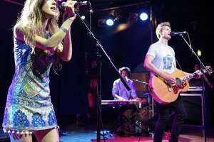 Kate Voegele and Tyler Hilton perform at The Scala on May 08, 2016 in London
