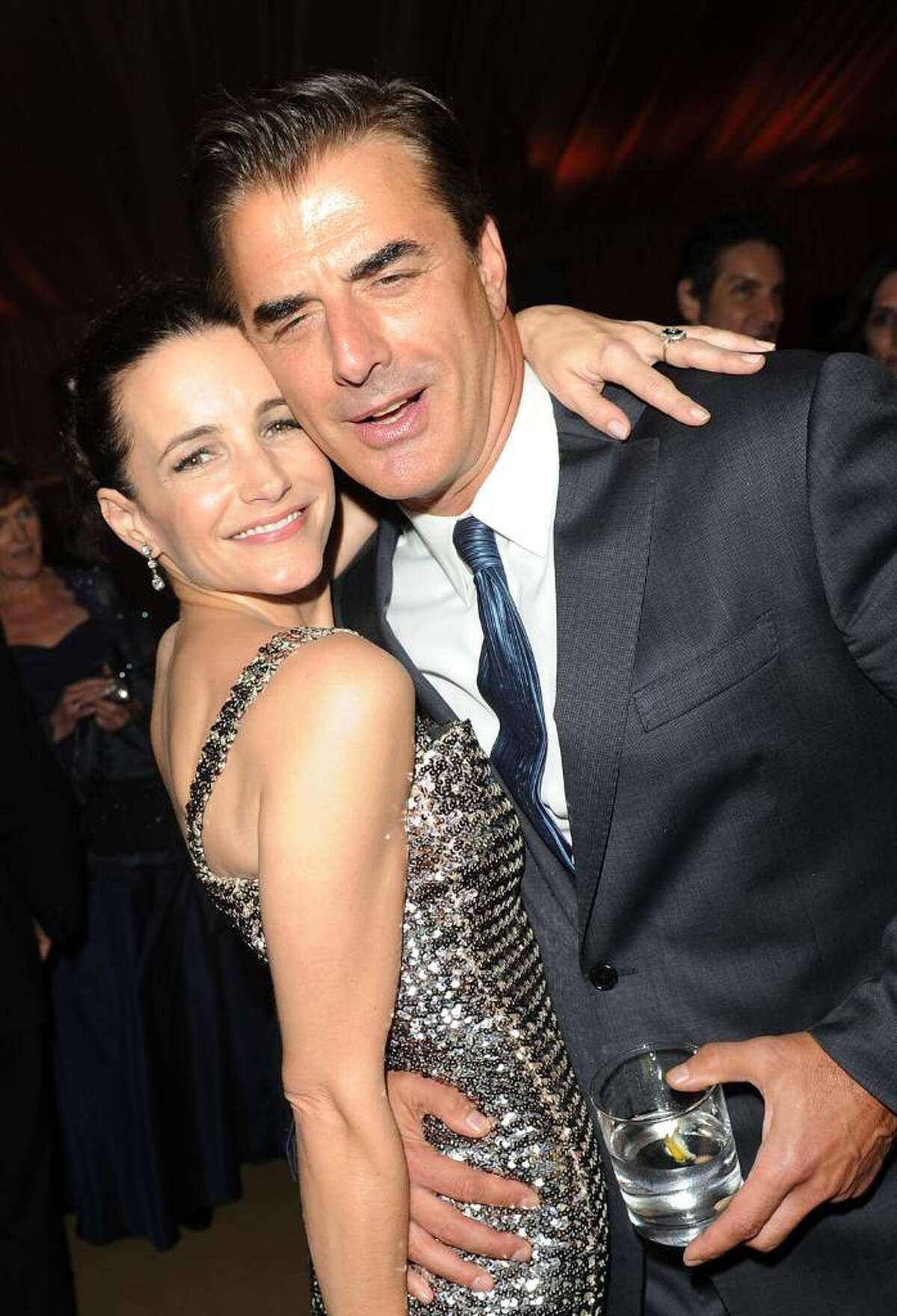 """NEW YORK - MAY 24: Actress Kristin Davis and actor Chris Noth attend the after party following the premiere of """"Sex and the City 2"""" at Lincoln Center for the Performing Arts on May 24, 2010 in New York City. (Photo by Stephen Lovekin/Getty Images) *** Local Caption *** Kristin Davis;Chris Noth"""