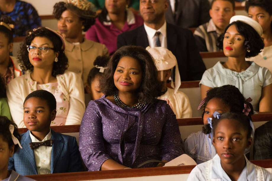 "This image released by Twentieth Century Fox shows Taraji P. Henson, background left, Octavia Spencer, center, and Janelle Monae, background right, in a scene from ""Hidden Figures."" (Hopper Stone/Twentieth Century Fox via AP) ORG XMIT: NYET906 Photo: Hopper Stone / TM & © 2016 Twentieth Century Fox Film Corporation. All Rights R"