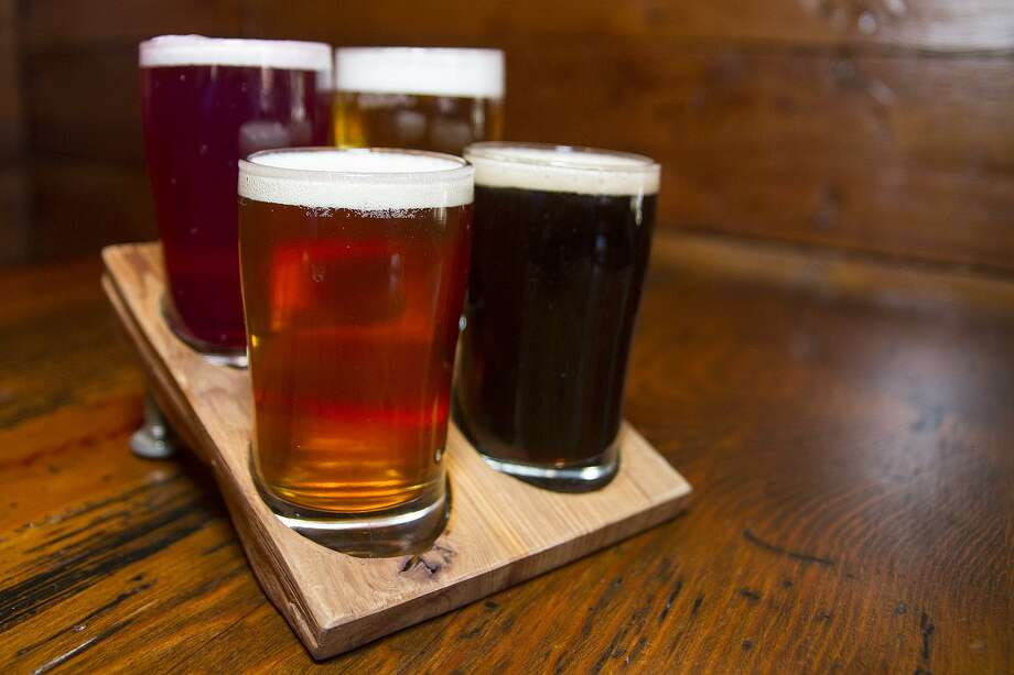 A flight of house-brewed beers from The Granary 'Cue & Brew. Photo: Express-News File Photo