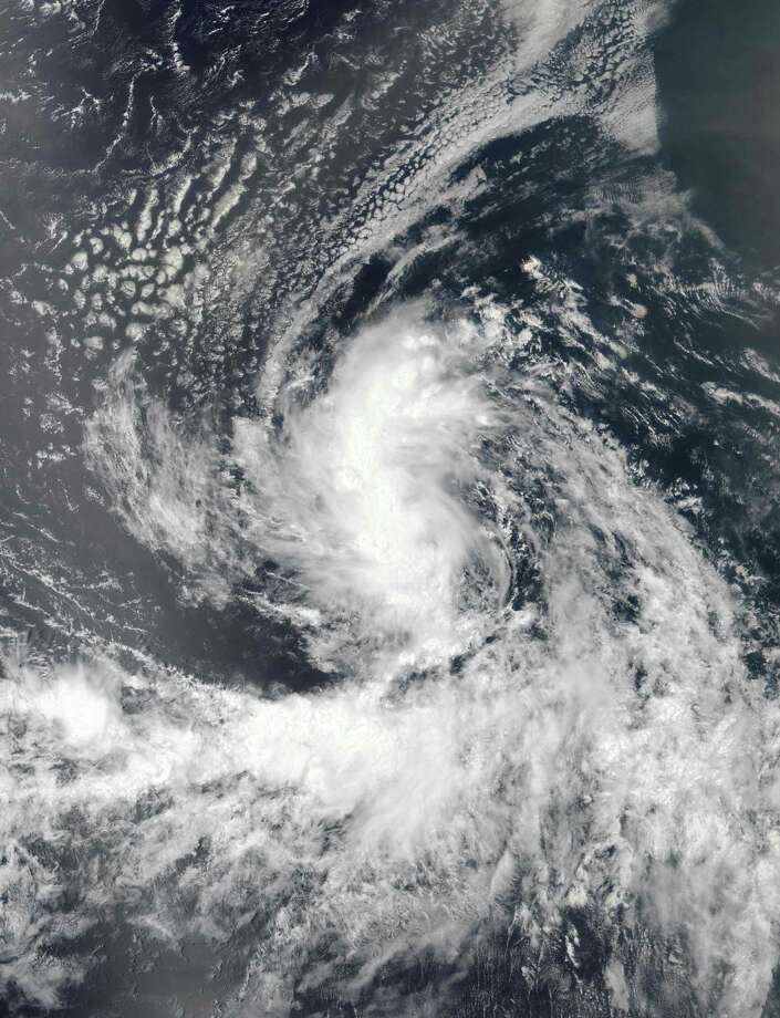 This August 22, 2016 NASA satellite image shows Tropical Storm Gaston forming in the Atlantic Ocean. Yale scientists say that the deep-water current known as the Atlantic Meridional Overturning Circulation — which powers much of the weather on the planet — could collapse unexpectedly. (NASA/AFB photo) Photo: HO / AFP /Getty Images / AFP or licensors