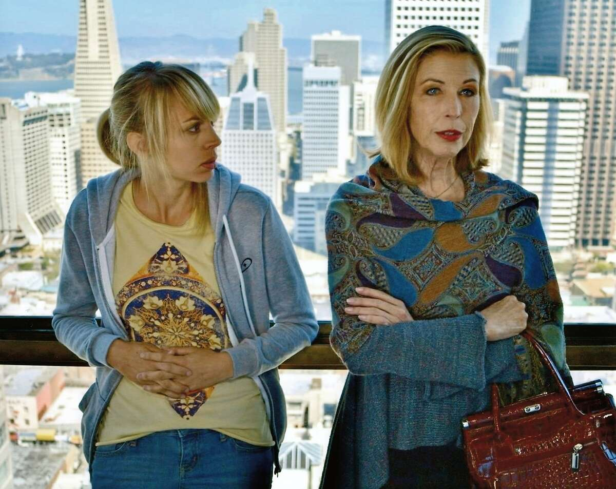 L-R: Monique Hafen as injured tennis star Jenny Lee and Linda Demetrick as her mother Emily in a scene from