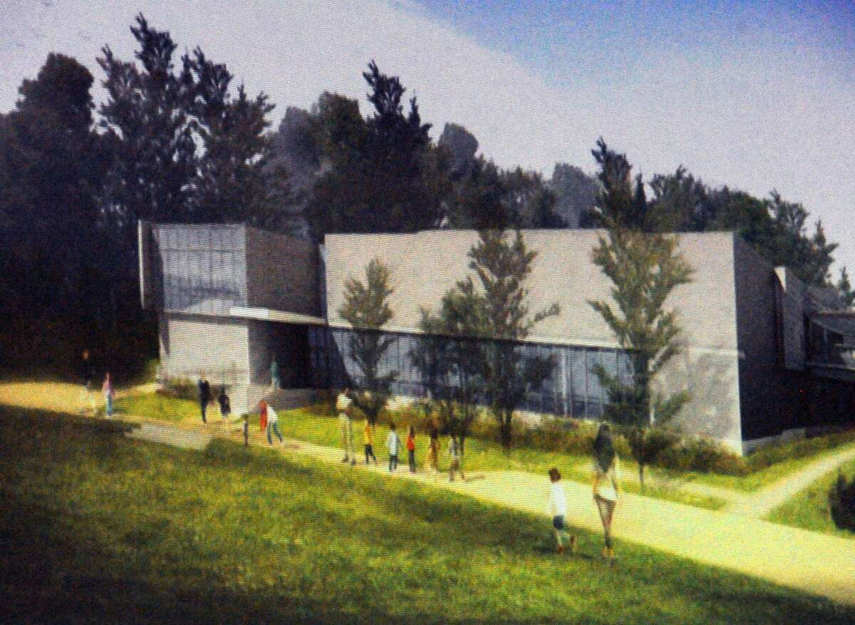 An artistic rendering of the new New Lebanon School by Tai Soo Kim Partners Architects.