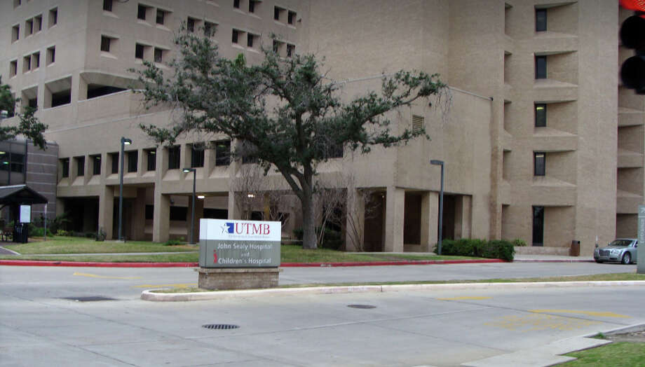 Patients and workers were evacuated from John Sealy Hospital in Galveston on Wednesday. Photo: Google Street View
