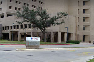 Patients and workers were evacuated from John Sealy Hospital in Galveston on Wednesday.