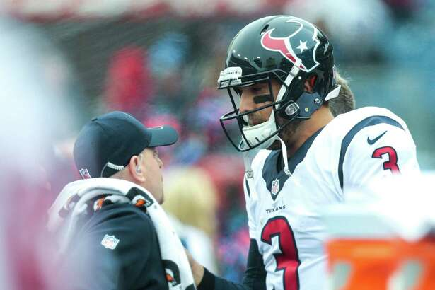 Texans quarterback Tom Savage remains under the NFL's concussion protocol after getting injured on a QB sneak against the Titans.