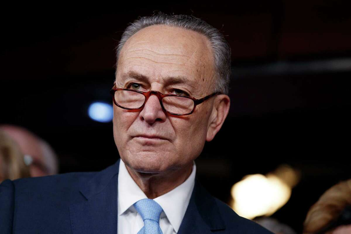 Senate Minority Leader Charles Schumer of N.Y. listens to a question during a news conference on President Barack Obama's signature healthcare law, Wednesday, Jan. 4, 2017, on Capitol Hill in Washington. (AP Photo/Evan Vucci)