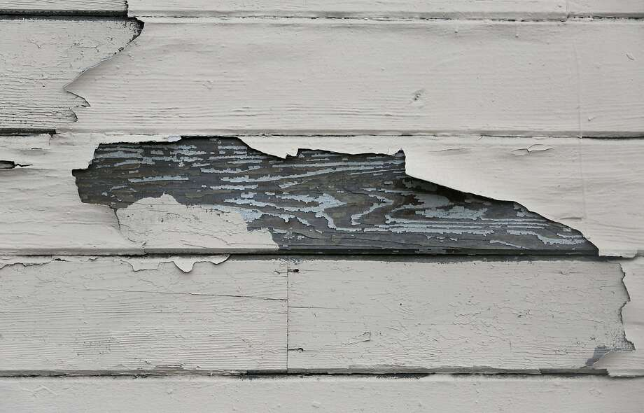 Peeling paint is seen on the building at 600 Minnesota Street on Wednesday, May 20, 2015 in San Francisco, Calif. Photo: Lea Suzuki, The Chronicle