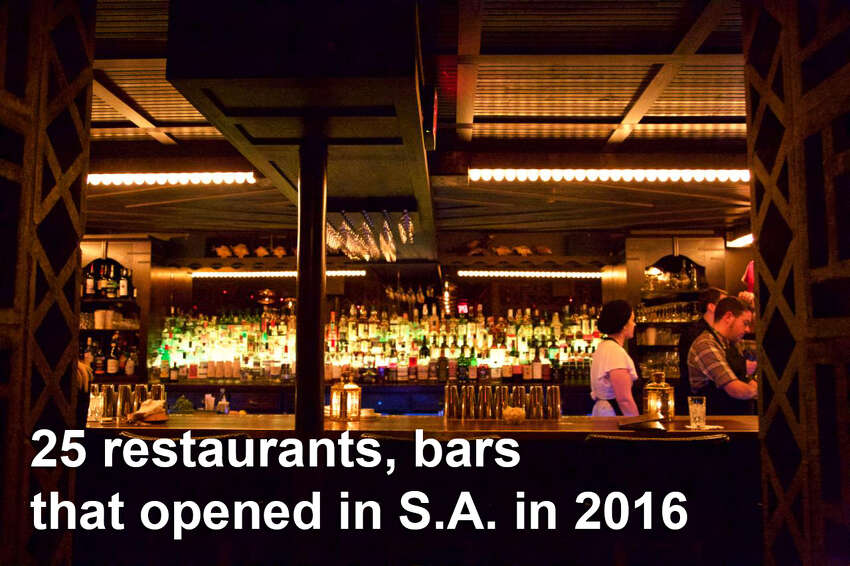 Here are 25 restaurants and bars that opened in San Antonio 2016 (and to try in 2017).Downstairs , 155 E. Commerce St. The charcuterie is a smorgasbord of cured and dried meats, terrines, pâtés and cheeses. Next up are the oysters on the half. Miscellaneous offerings include truffled eggs and pickled vegetables.Read more: Downstairs is a hidden River Walk gem