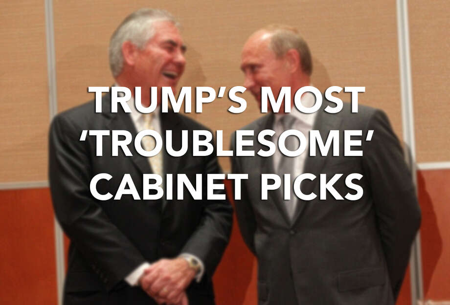 "Click through for more on Donald Trump's ""most troublesome"" cabinet picks, according to Democrats."