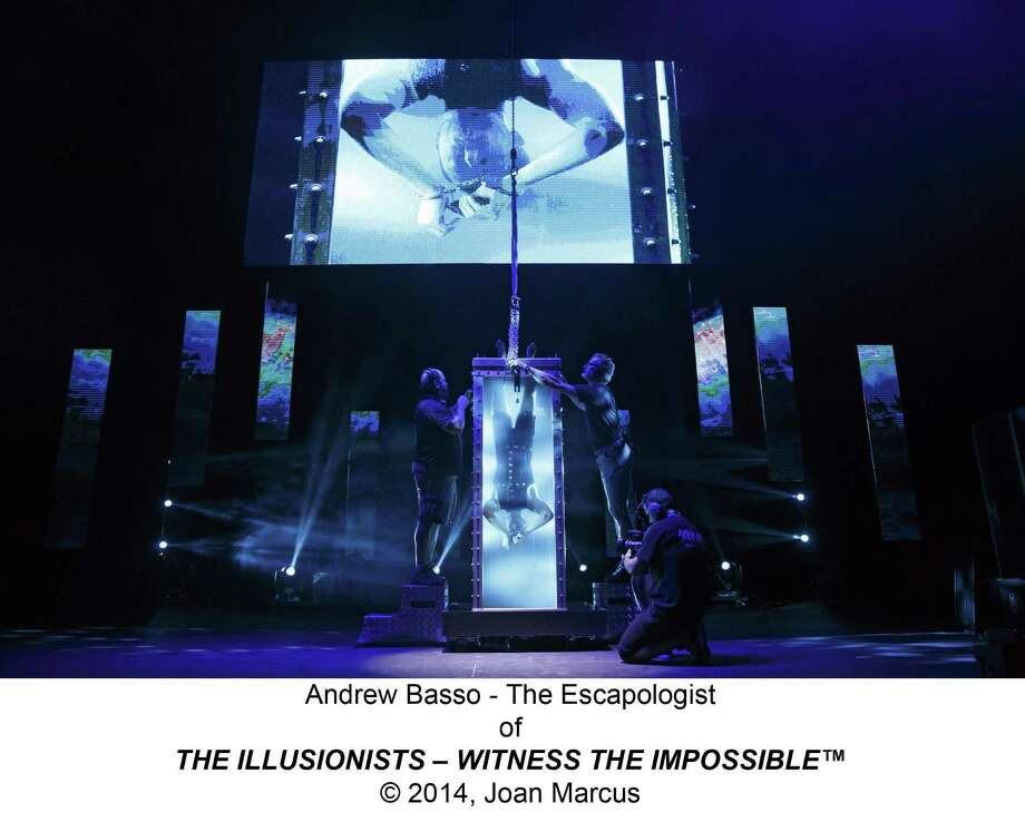 "Escape artist Andrew Basso is one of the acts that will perform as part of ""The Illusionists."" Photo: Courtesy Joan Marcus /Courtesy Joan Marcus / ©2014, Joan Marcus"