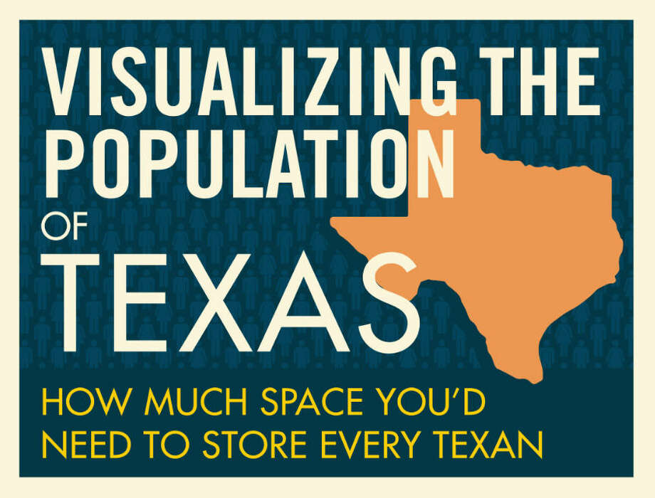 Texas-based storage company SpareFoot crunched the numbers to figure out how must space the entire Texas population would take up in one central location. The graphic tells what they found.Source: SpareFoot Photo: SpareFoot