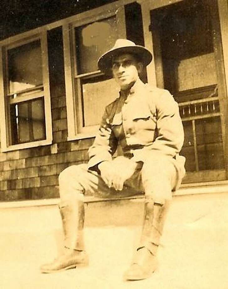 A photograph of Brookfield resident Gene Roberts' great uncle PFC Anton Kendzie, who served in WWI as part of the American Expeditionary Force and participated in the Meuse Argonne Campaign Offensive. Photo: /