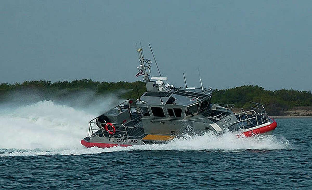 A Coast Guard response boat