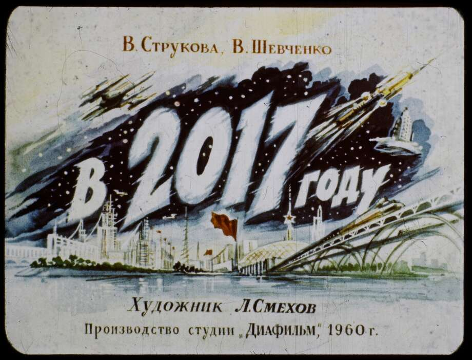 A filmstrip from 1960 showing the Soviet Union's vision for 2017 resurfaced online, showing a fanciful vision of the future. Photo: Sergey Pozdnyakov