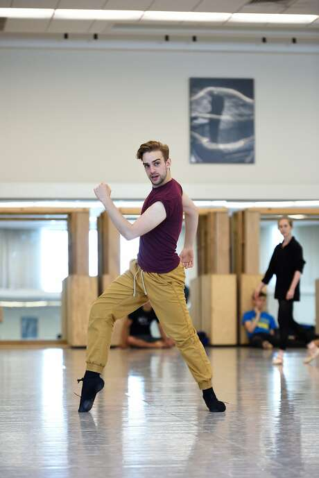 Corps de ballet member Myles Thatcher rehearses for his San Francisco Ballet premiere. Photo: Erik Tomasson