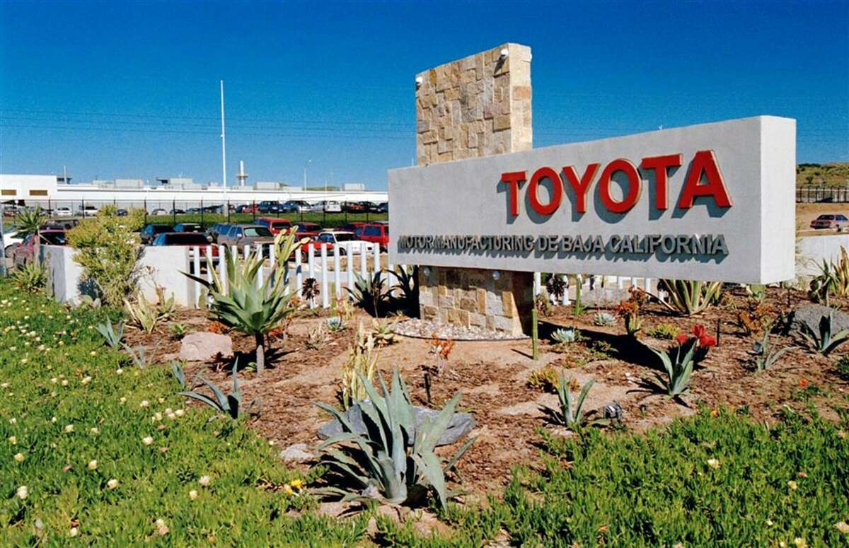 A Tacoma midsize pickup factory near the California border, shown here, and a Mazda Motor Corp. plant supplying Yaris and Yaris iA small cars produced a combined 6.6 percent of Toyota's total North American production in 2016.