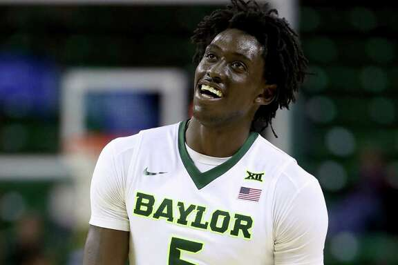 WACO, TX - DECEMBER 21:  Johnathan Motley #5 of the Baylor Bears reacts to a shot against Texas Southern Tigers in the second half at Ferrell Center on December 21, 2016 in Waco, Texas.  (Photo by Tom Pennington/Getty Images)