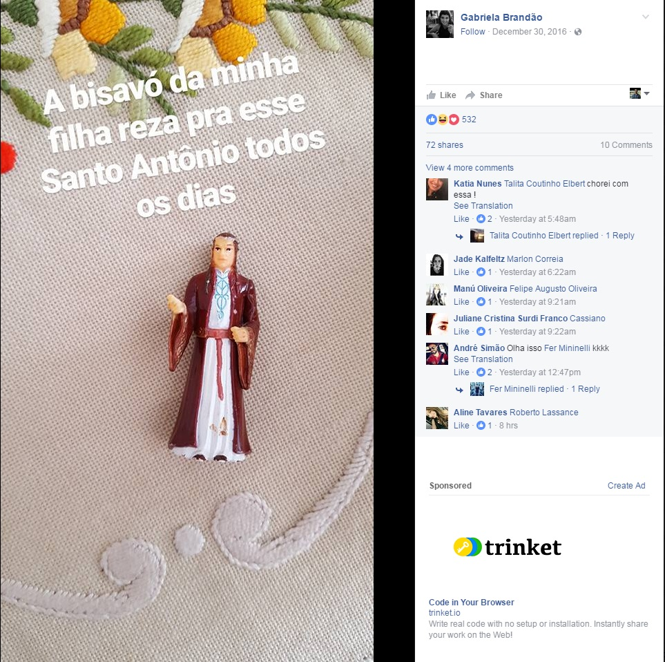 Brazilian woman has been praying to a Lord of Rings figure