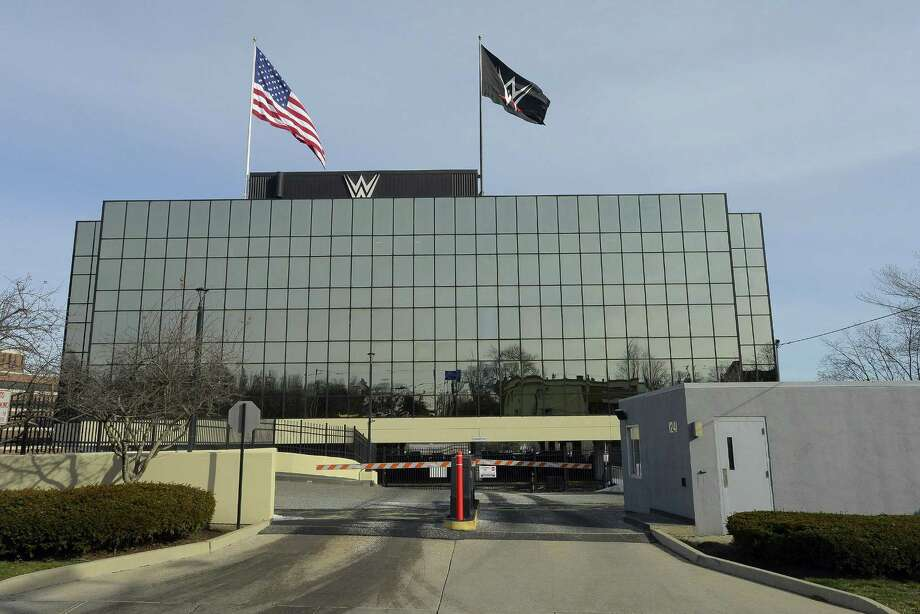 "Exterior photographs taken on Dec. 23, 2016 of the ""Titan Tower,"" the WWE headquarters in Stamford, Connecticut. Photo: Matthew Brown / Hearst Connecticut Media / Stamford Advocate"