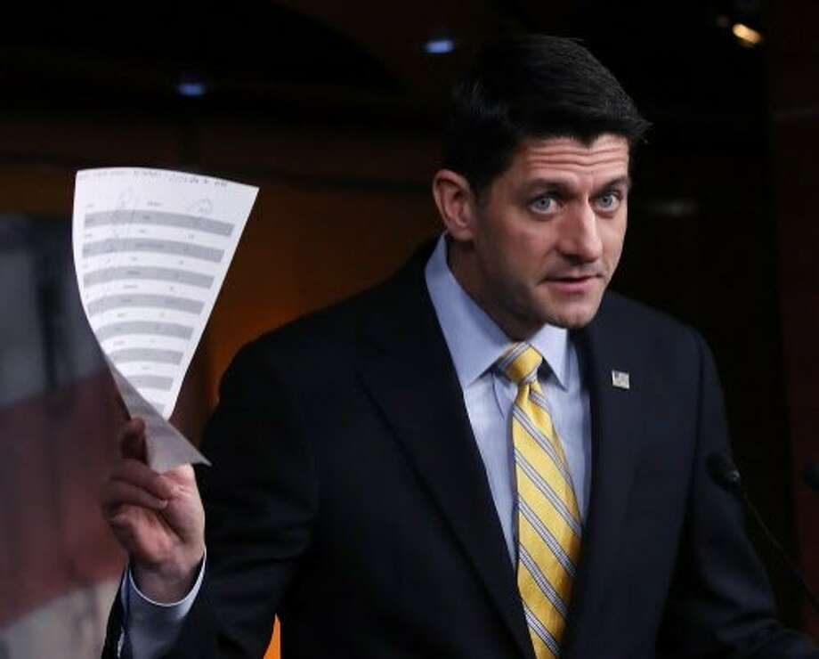 House Speaker Paul Ryan vows to follow through on Republican promises to repeal the Affordable Care Act. Photo: Mark Wilson