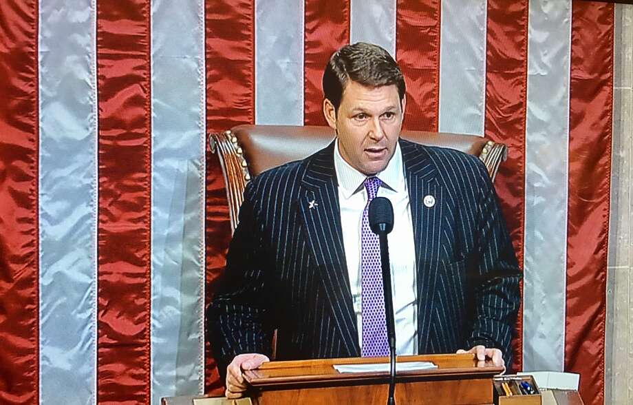 U.S. Rep. Jodey Arrington (R-Lubbock) is shown presiding over the U.S. House Floor. He served as presiding officer in the U.S. House briefly Wednesday, beginning about 3:50 p.m. CT, during which he recognized several fellow House members to make brief speeches on a variety of topics. Arrington, who represents the Texas 19th Congressional District, was sworn-in Tuesday and became the first freshman member of the 115th Congress to take the House Speaker's dais to preside over the floor. The proceedings were broadcast live on C-SPAN. Arrington, elected in November, was born and raised in Plainview.