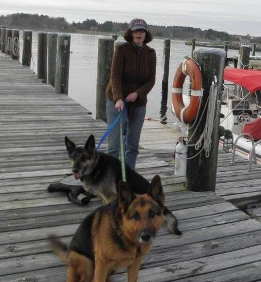 Third Selectwoman Helen Garten with her German shepherds. Photo: Contributed / Contributed Photo / Westport News