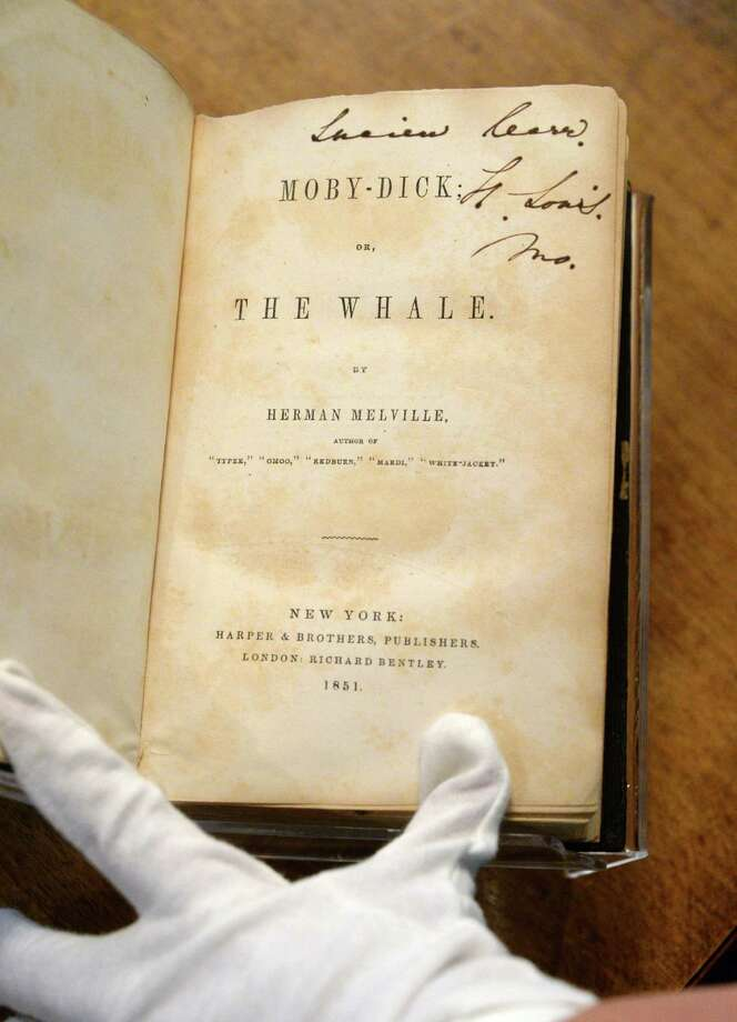 A first edition of Moby Dick by Academy alum Herman Melville in the Albany Academy's archives Tuesday May 10, 2016 in Albany, NY.  (John Carl D'Annibale / Times Union) Photo: John Carl D'Annibale / 20036529A