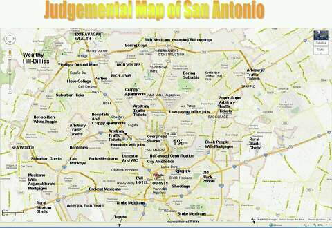 san antonio map Creator Of Viral Judgmental S A Map Speaks Out On Controversy San Antonio Express News san antonio map