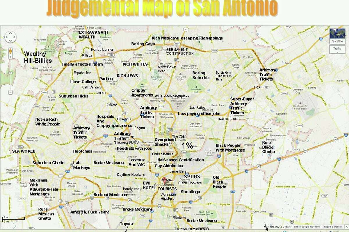 Creator of viral \'judgmental\' S.A. map speaks out on controversy ...
