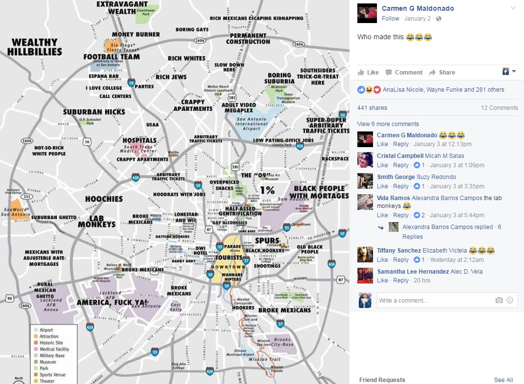 Creator Of Viral Judgmental S A Map Speaks Out On