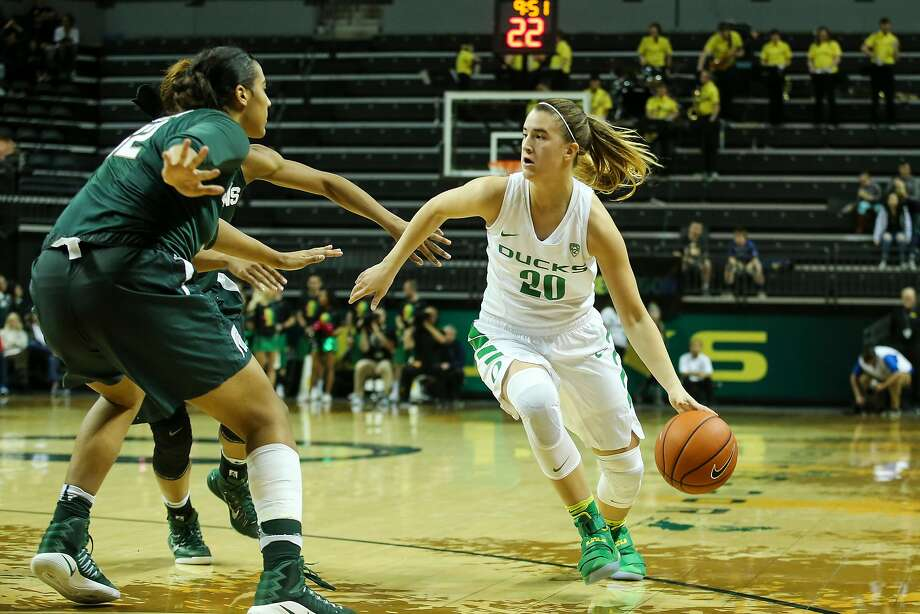 Former Miramonte-Orinda basketball star Sabrina Ionescu is now a freshman guard at Oregon. Photo: Eric Evans Photography, Eric Evans Photo