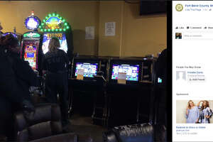 Officers raided the Jungle Wild Game Room on Texas 6 on Thursday.