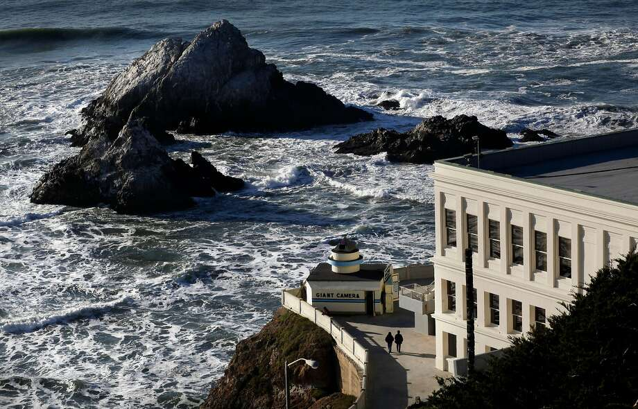 The View Of Cliff House And Seal Rock From Top Sutro Heights Park